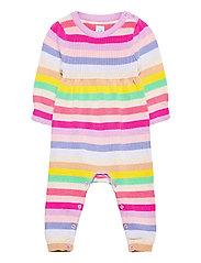 Baby Happy Stripe One-Piece - MULTI STRIPE