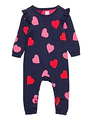 Baby Heart Sweater One-Piece - NAVY UNIFORM V2