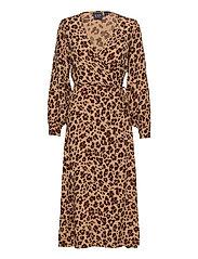Wrap-Front Maxi Dress - LEOPARD PRINT