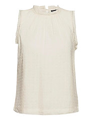 Shirred Lace Top - IVORY