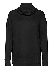 Softspun Cowl-Neck Top - TRUE BLACK