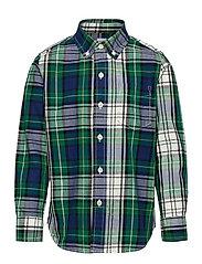 Kids Plaid Shirt - NAVY/GREEN PLAID