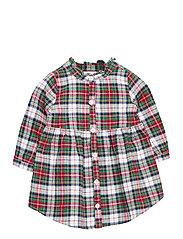 Toddler Plaid Dress - STEWART PLAID MILK