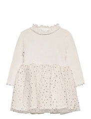 Toddler Mix-Media Dress - IVORY FROST