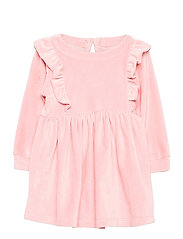 Toddler Velour Ruffle Skater Dress - PINK STANDARD
