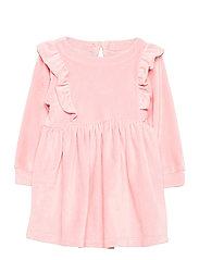 Toddler Velour Ruffle Skater Dress - PINK STANDARD