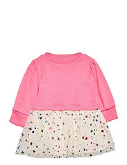 Toddler Mix-Media Dress - SIZZLING FUCHSIA NEON