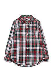 Toddler Poplin Print Shirt - FAMILY PLAID