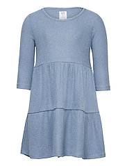 Kids Softspun Tiered Dress - BAINBRIDGE BLUE