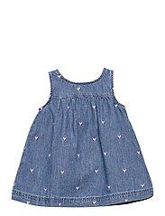 Baby Denim Jumper Dress - LIGHT WASH