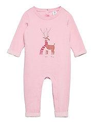 Baby Cozy Reindeer One-Piece - MISTY ROSE