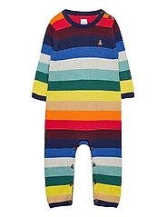Baby Happy Stripe One-Piece - ELYSIAN BLUE
