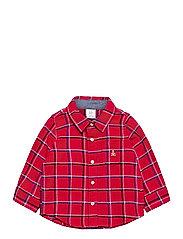 Baby Plaid Flannel Shirt - MODERN RED 2
