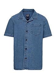 Kids Denim Shirt - MEDIUM WASH