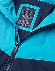 GAP - Kids 100% Recycled Polyester Colorblock Windbuster - windbreaker jassen - cyan blue 579 - 3