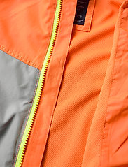 GAP - Kids 100% Recycled Polyester Colorblock Windbuster - windbreaker jassen - neon orange bolt - 3