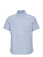 Kids Uniform Oxford Short Sleeve Shirt - OXFORD BLUE