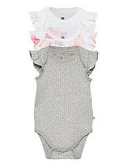 Baby Ruffle Bodysuit (3-Pack) - OPTIC WHITE