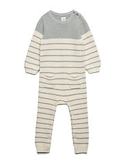 Baby Brannan Stripe One-Piece - H. GREY B08-7062