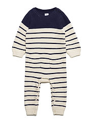 Baby Brannan Stripe One-Piece - NAVY UNIFORM