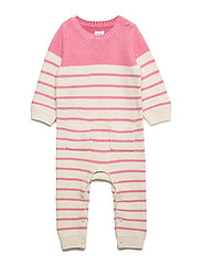 Baby Brannan Stripe One-Piece - PINK HEATHER B0459