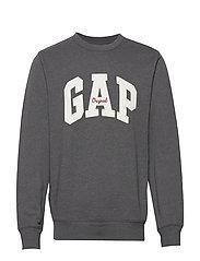 Gap Logo Fleece Crewneck Sweatshirt - B50-B10 CHARCOAL GREY