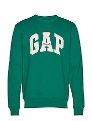 Gap Logo Fleece Crewneck Sweatshirt - BALSAM TREE