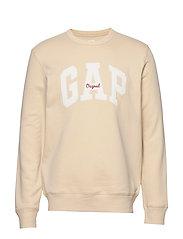 Gap Logo Fleece Crewneck Sweatshirt - ECRU 033