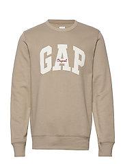 Gap Logo Fleece Crewneck Sweatshirt - FIELD STONE