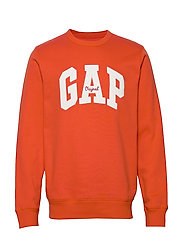 Gap Logo Fleece Crewneck Sweatshirt - FLARE ORANGE