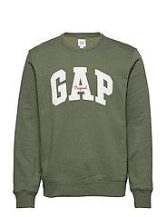 Gap Logo Fleece Crewneck Sweatshirt - JUNGLE GREEN