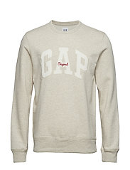 Gap Logo Fleece Crewneck Sweatshirt - OATMEAL HEATHER B0210