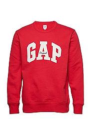 Gap Logo Fleece Crewneck Sweatshirt - PURE RED V2