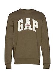 Gap Logo Fleece Crewneck Sweatshirt - RIPE OLIVE