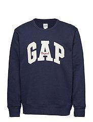 Gap Logo Fleece Crewneck Sweatshirt - TAPESTRY NAVY