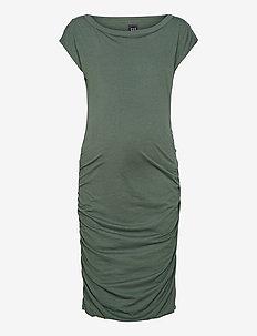 Maternity Bodycon Dress - hverdagskjoler - cool olive