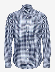 Lived-In Stretch Oxford Shirt - geruite overhemden - blue gingham 685