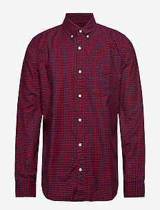 Lived-In Stretch Oxford Shirt - checkered shirts - modern red 2