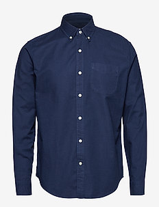 Lived-In Stretch Oxford Shirt - checkered shirts - tapestry navy