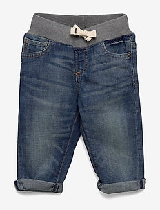 Toddler Pull-On Slim Jeans with Stretch - jeans - medium wash
