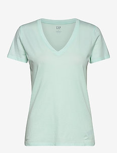 Vintage Wash V-Neck T-Shirt - CRYSTAL MINT