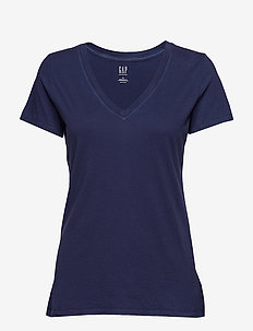 Vintage Wash V-Neck T-Shirt - NAVY UNIFORM