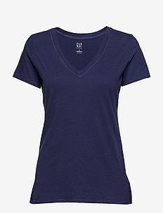 Vintage Wash V-Neck T-Shirt - basic t-shirts - navy uniform