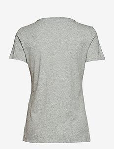 Vintage Wash Crewneck T-Shirt - koszulki basic - heather grey