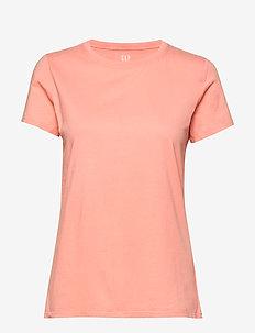 Vintage Wash Crewneck T-Shirt - basic t-shirts - papaya punch