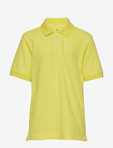Kids Uniform Short Sleeve Polo Shirt - AURORA YELLOW