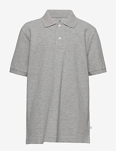 Kids Uniform Short Sleeve Polo Shirt - poloskjorter - light heather grey b10