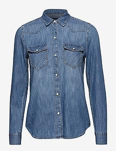 Denim Western Shirt - MEDIUM INDIGO 4