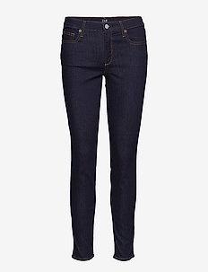 Mid Rise True Skinny Jeans - RINSED/DENIM