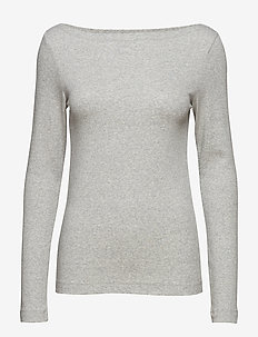 Modern Boatneck T-Shirt - long-sleeved tops - heather grey